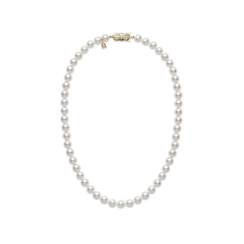 Mikimoto Pearl Strand Yellow Gold Clasp Marshall Pierce & Company Chicago