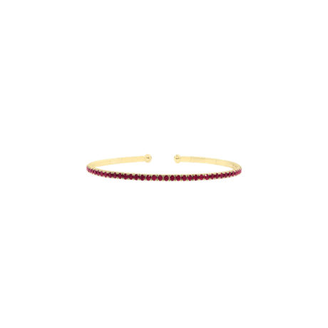 Spark Yellow Gold Ruby Bangle Bracelet Marshall Pierce & Company Chicago