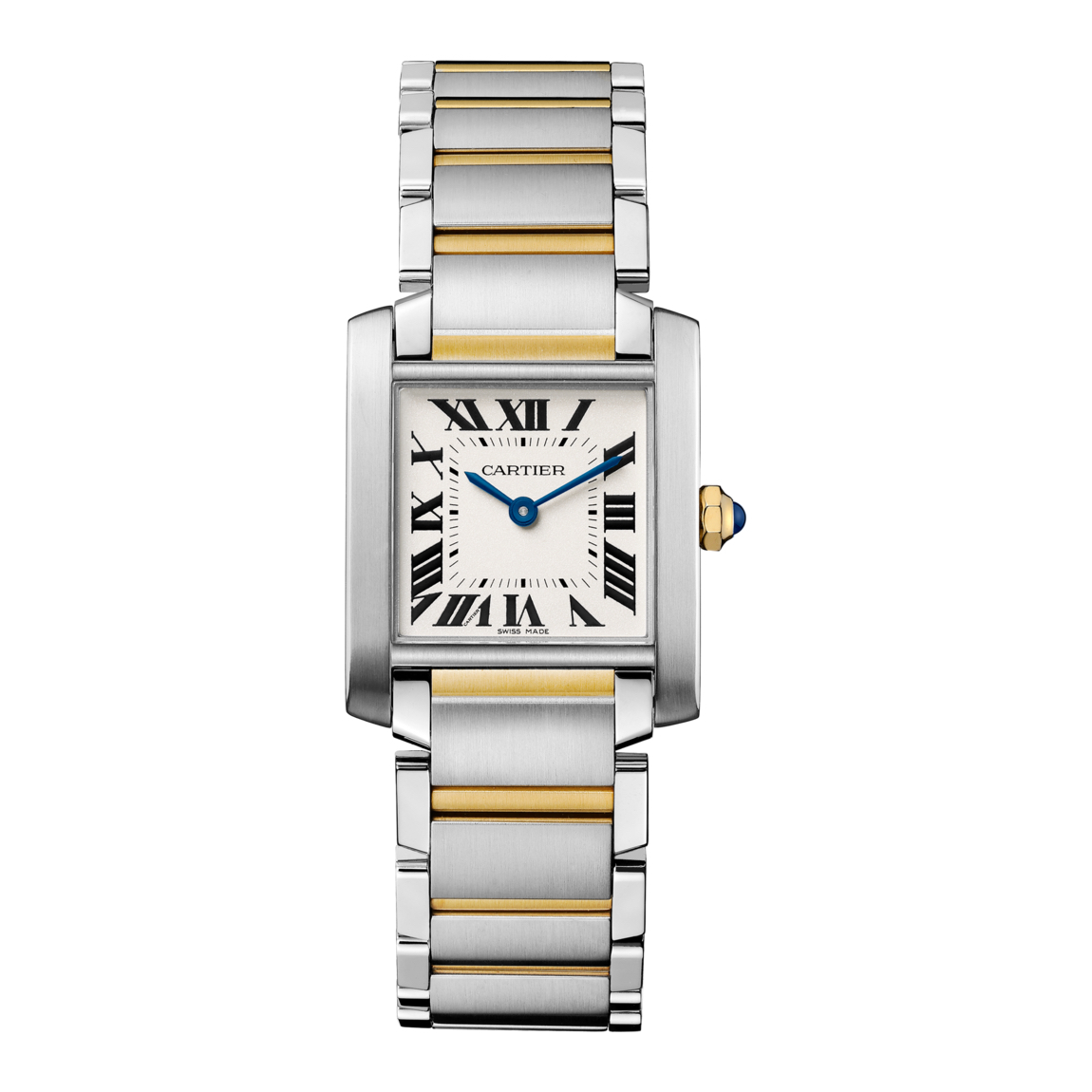 Tank Francaise in Steel & Yellow Gold – Midsize Model – Ladies Watch – W2TA0003 Marshall Pierce & Company Chicago Authorized Dealer