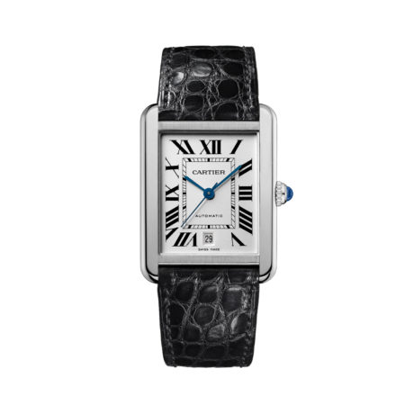 W5200027 Cartier Large Tank Solo in Steel Marshall Pierce & Company Chicago