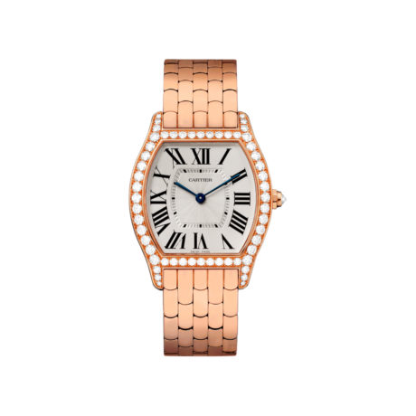 WA501012 Cartier Tortue Medium Pink Gold Diamonds Authorized Dealer Chicago Marshall Pierce & Company