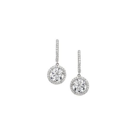 A. Link JME00094 Diamond Halo Drop Earrings Marshall Pierce & Company Chicago