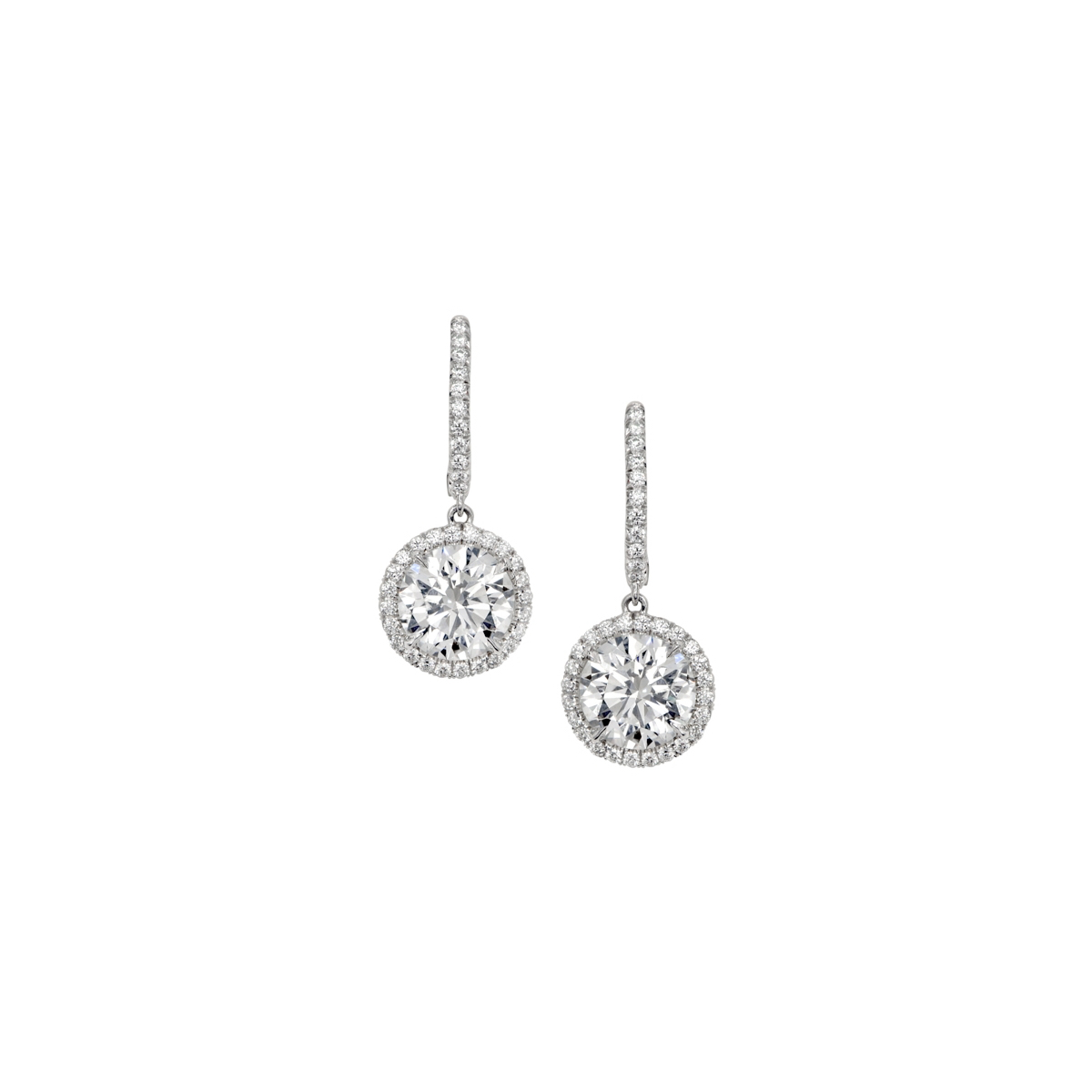 1 28 Carat Diamond Halo Drop Earrings