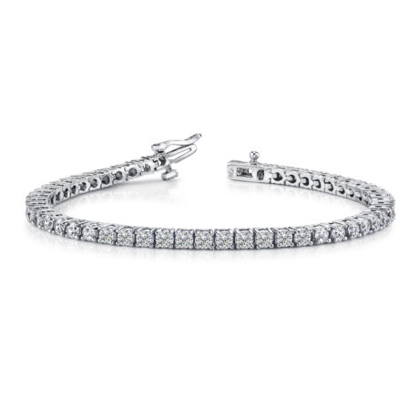 Marshall Pierce & Company Diamond Tennis Bracelet Prong Set Round