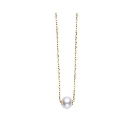 Mikimoto Pearl Pendant in Yellow Gold Marshall Pierce & Company Chicago