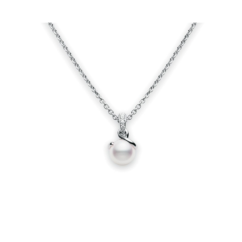Mikimoto 1100mm white south sea pearl diamond twist pendant mikimoto white south sea pearl twist pendant with diamonds marshall pierce company chicago aloadofball Choice Image