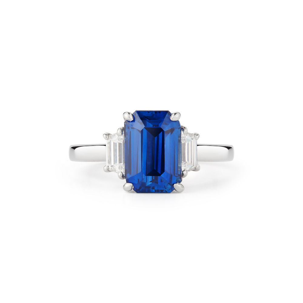 4 21 Carat Sapphire Diamond Ring Estate on oscar heyman diamond rings
