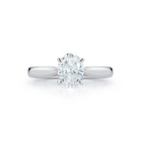 Marshall Pierce Chicago Engagement Rings Oval Diamond Solitaire Ring
