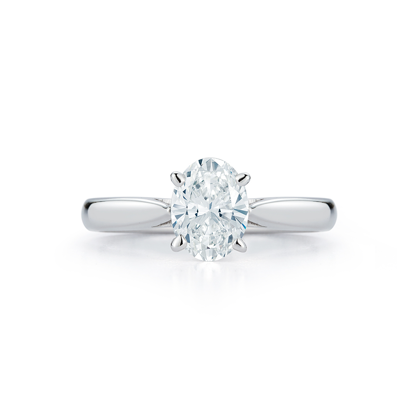 Oval Diamond Solitaire Engagement Ring Marshall Pierce Chicago