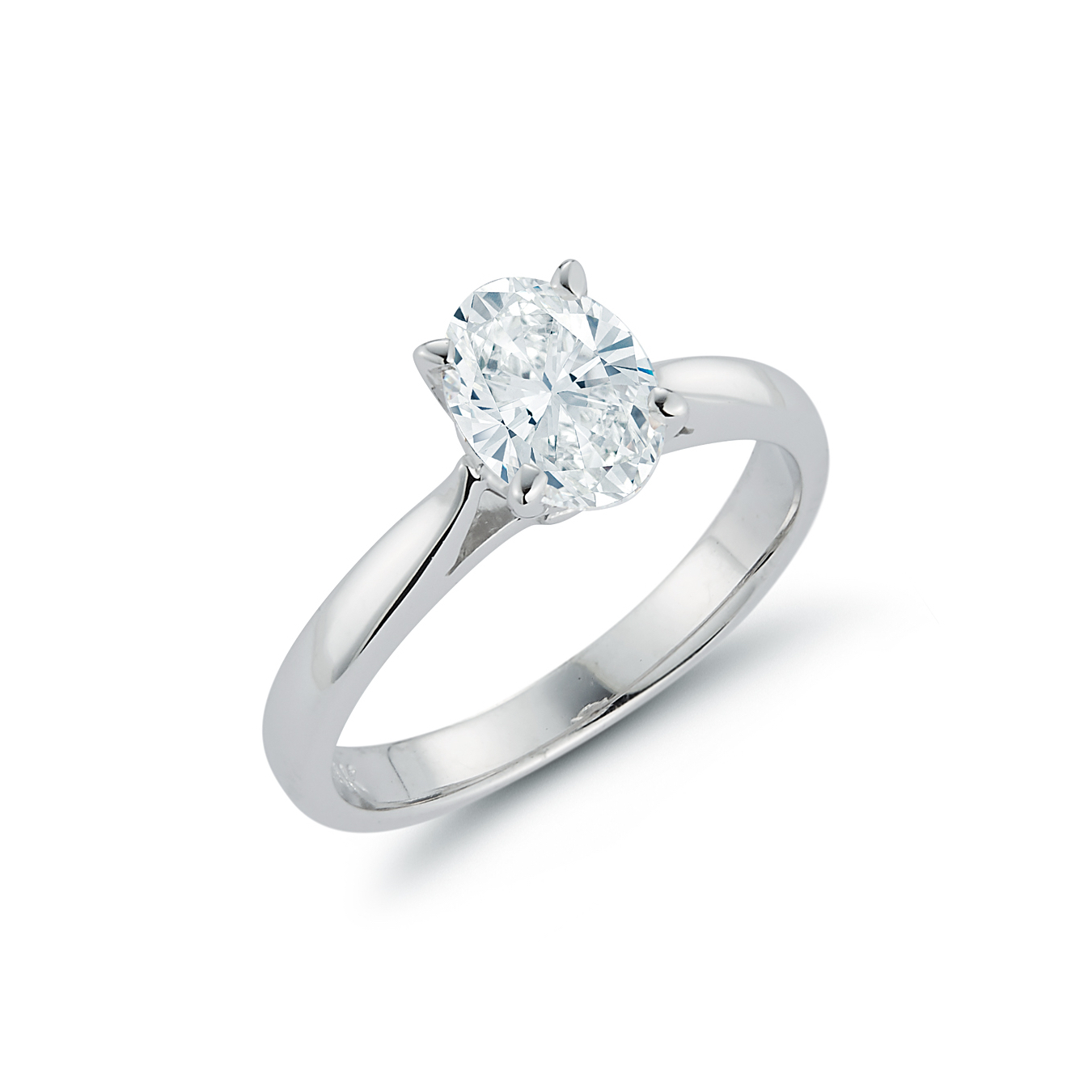 Engagement Rings Chicago: Oval Diamond Solitaire Engagement Ring