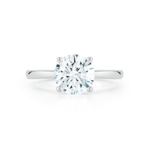 Round Brilliant Diamond Solitaire Engagement Ring