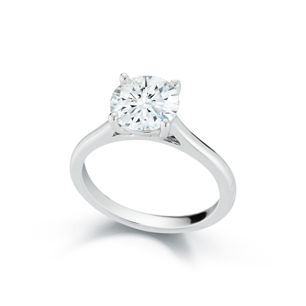 Marshall Pierce Company Chicago Cathedral Diamond Solitaire Engagement Ring 1