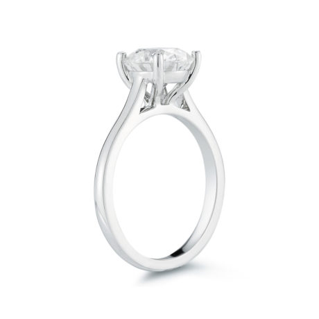 Marshall Pierce Company Chicago Cathedral Diamond Solitaire Engagement Ring 3