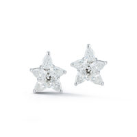Marshall Pierce & Company Chicago Fine Jewelry 1.93 Carat Pear-Shape Diamond Cluster Earrings