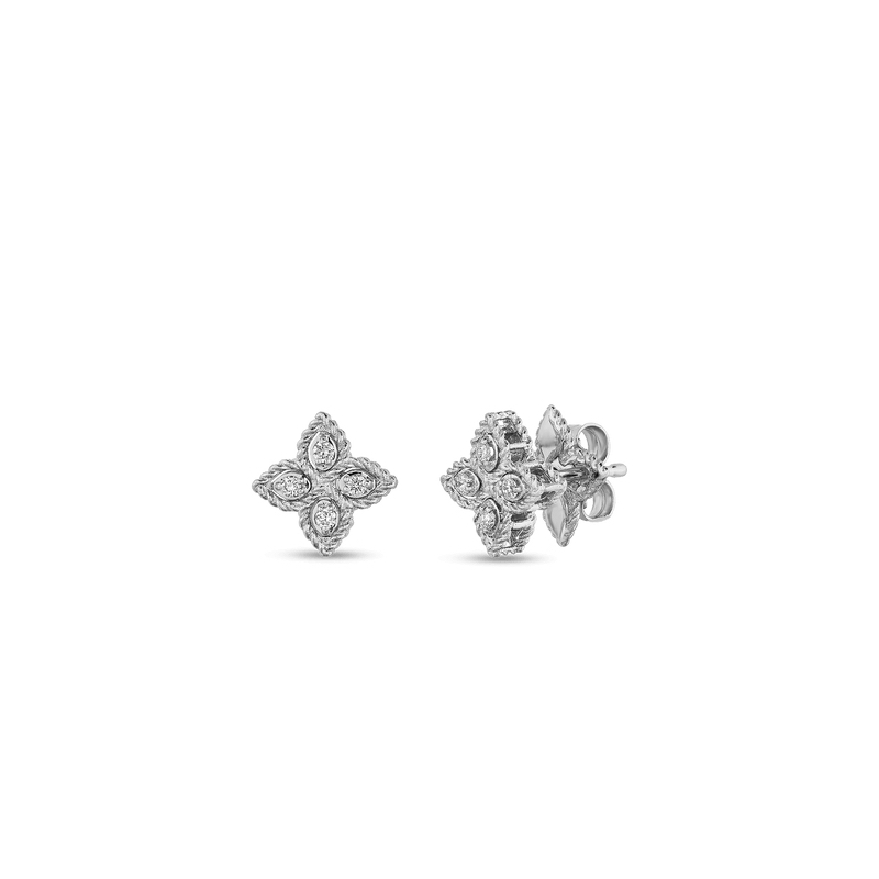 betteridge gold earring white l diamond earstuds stud flower
