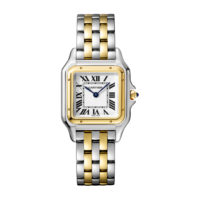 Panthère de Cartier Medium Model Yellow Gold & Steel Ladies Watch – W2PN0007 Marshall Pierce & Company Chicago Authorized Dealer