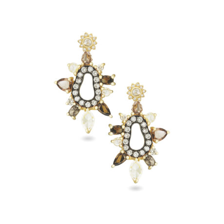 Rose Soleil detachable drop earrings AMT jewelry design Marshall Pierce & Company Chicago