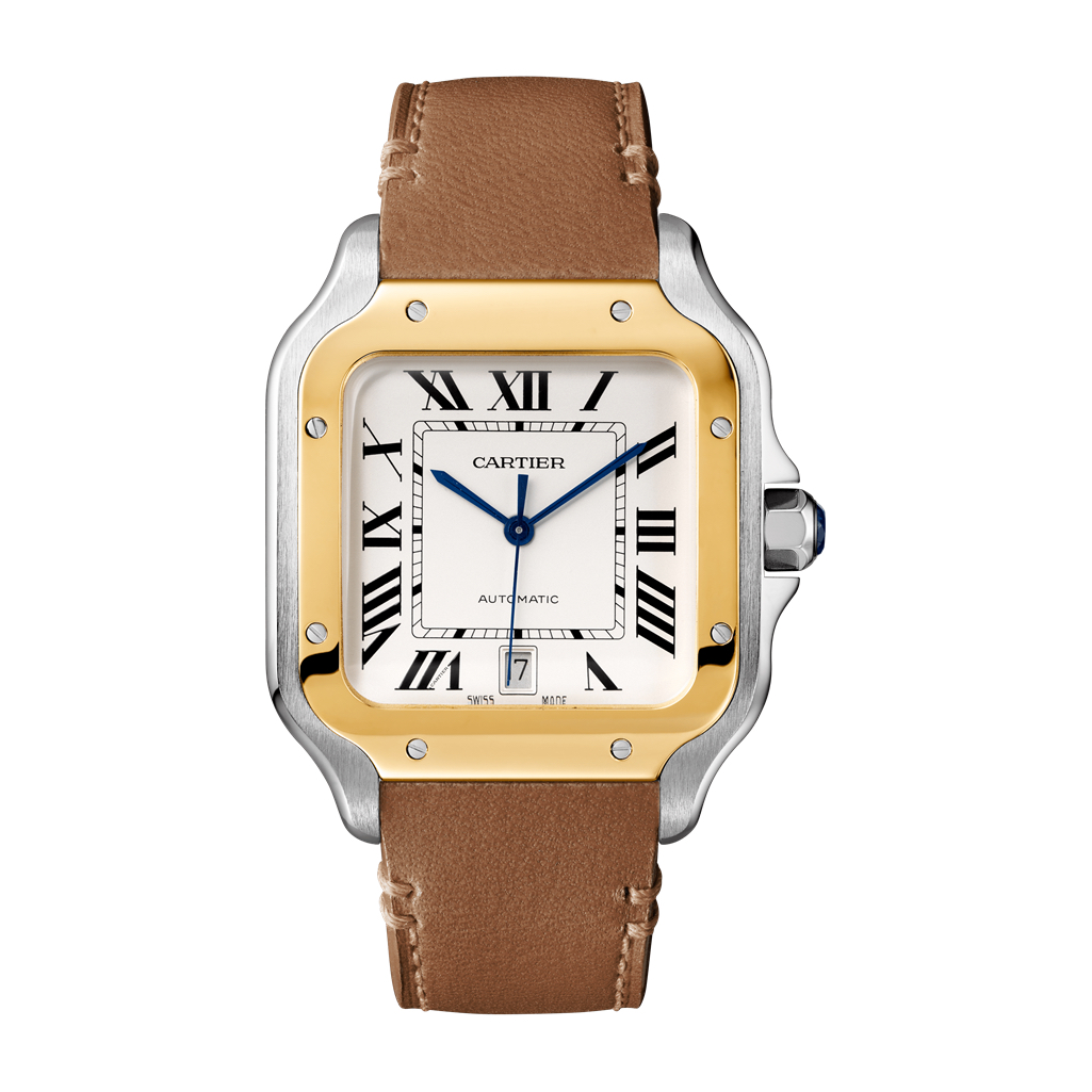 Large Cartier Santos W2SA0006 Two Tone Marshall Pierce & Company Chicago Authorized Dealer 1