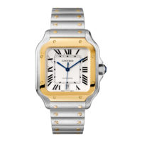 Santos de Cartier in Steel & Gold – Large Model – Men's Watch – W2SA0006