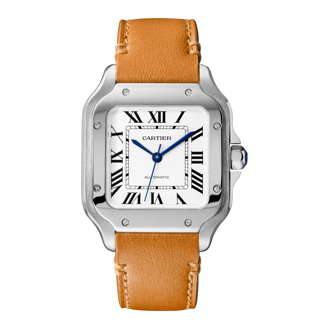 best cartier s image stainless santos watch watches world steel