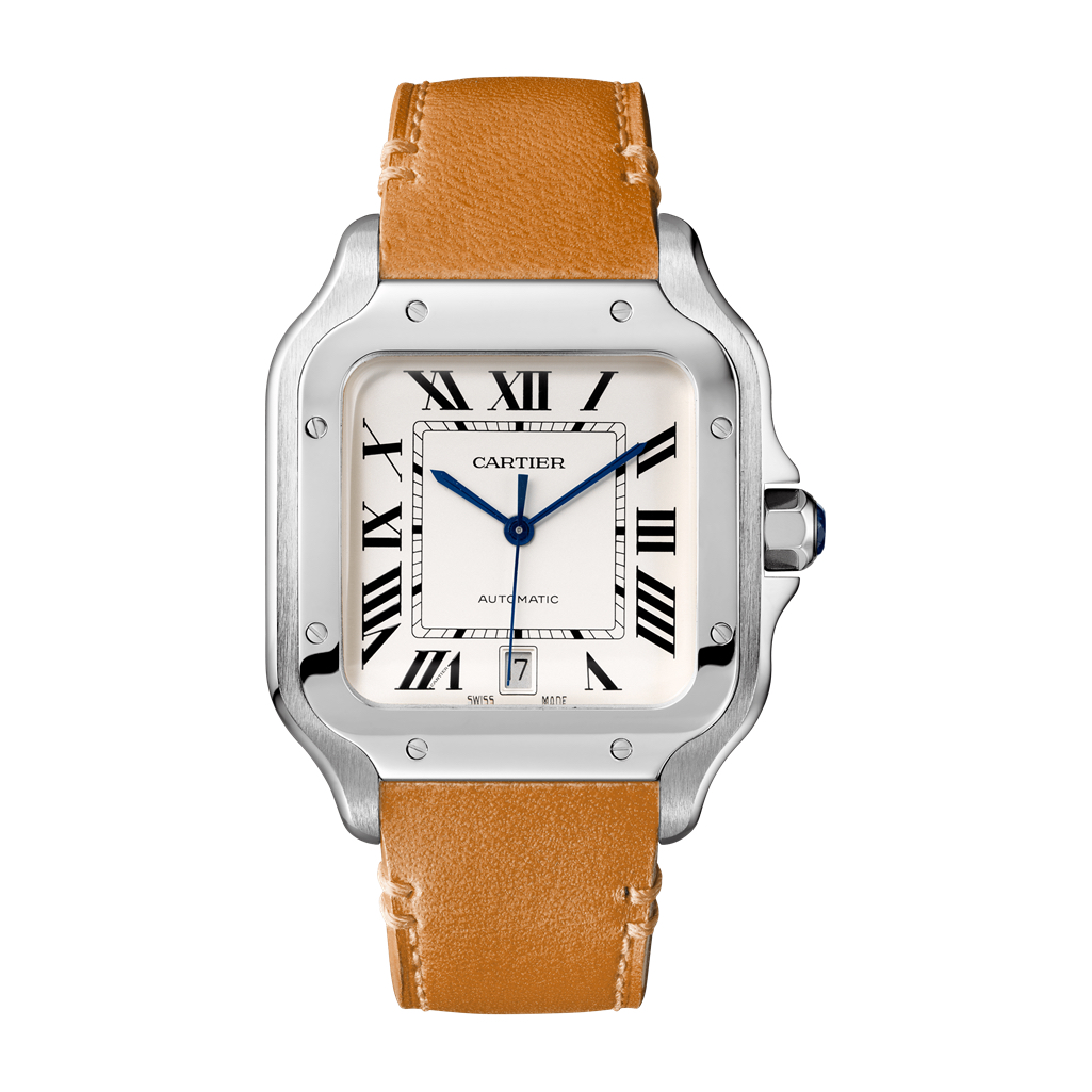 WSSA0009 Cartier Santos Large Steel Watch Chicago Marshall Pierce & Company Authorized Dealer