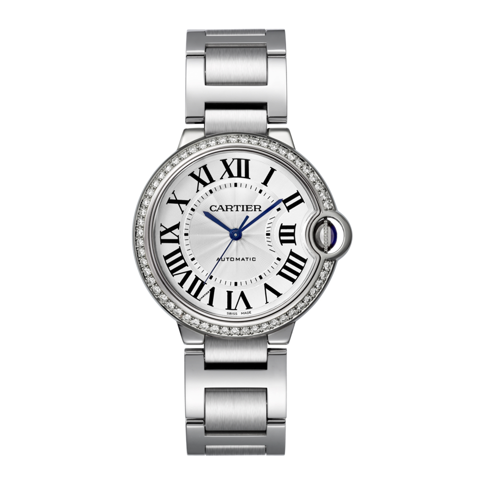 W4BB0017 Cartier Ballon Bleu Steel and Diamond Bezel Marshall Pierce & Company Chicago