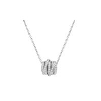 DeGrisogono Allegra Diamond Pendant in White Gold 95712:01 Marshall Pierce & Company Chicago Jewelers