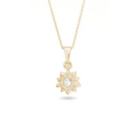 AMT Jewelry Design Rose Soleil Pendant in Yellow Gold