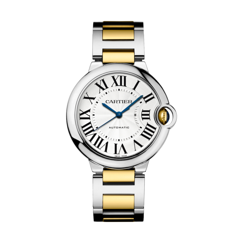 Ballon Bleu de Cartier in Steel & Yellow Gold - 36mm - Ladies Watch - W2BB0012