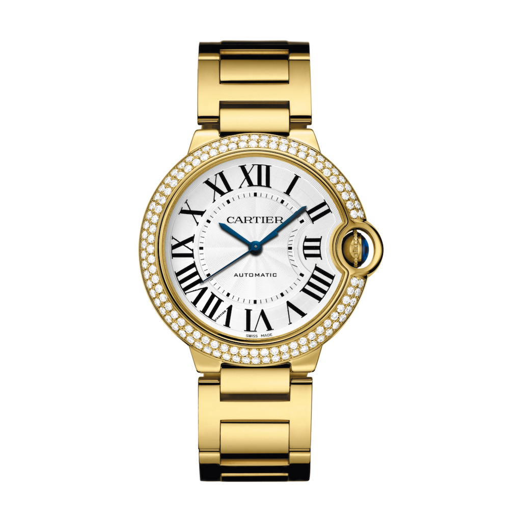 Ballon Bleu de Cartier in Yellow Gold with Diamonds 36mm Ladies Watch  WJBB0007 Marshall 8debe28fdcc