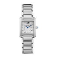 Cartier Tank Francaise in Steel with Diamonds - Small Model - Ladies Watch - WE110006
