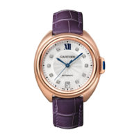 Clé de Cartier in Pink Gold with Diamonds - 35mm - Ladies Watch - WJCL0032