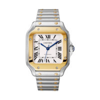 Santos de Cartier in Steel & Yellow Gold - Medium Model - Men's Watch - W2SA0007