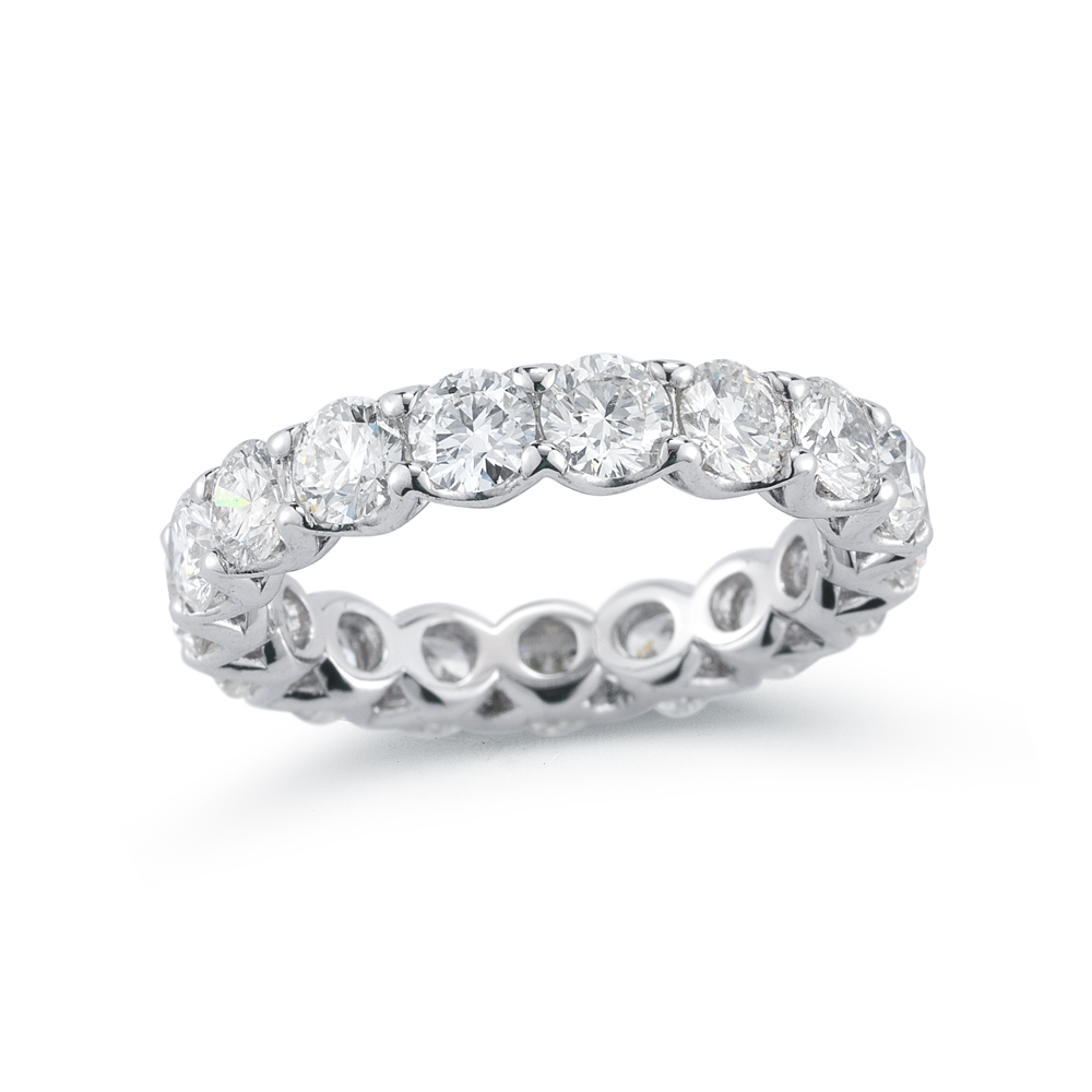 A Link 340 Carat Uprong Set Diamond Eternity Wedding Band: Link Diamond Wedding Band At Reisefeber.org