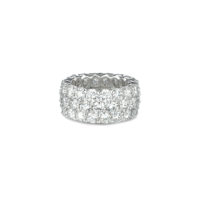 a. link three row diamond eternity band