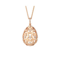 0028571_800 Faberge Imperial Egg Pendant in Rose Gold with Diamonds Marshall Pierce Chicago