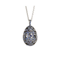 0028612_800 Faberge Imperial Egg Pendant Blue Sapphire Marshall Pierce Chicago
