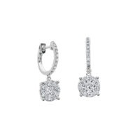 A. Link Luminous Cluster Drop Diamond Earrings