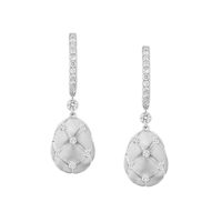 Faberge Treillage White Gold & Diamond Drop Earrings Marshall Pierce Chicago