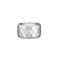Faberge Treillage White Gold & Diamond wide ring Marshall Pierce Chicago