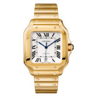 Santos de Cartier in Yellow Gold - Large Model - Men's Watch - WGSA0009 bracelet