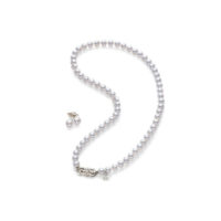UN70118VS1W2 Mikimoto Akoya Pearl gift set 2 piece strand stud earrings Marshall Pierce & Company chicago