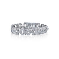 16.50 Carat Art Deco Diamond Bracelet in Platinum – Estate Marshall Pierce & Company Chicago