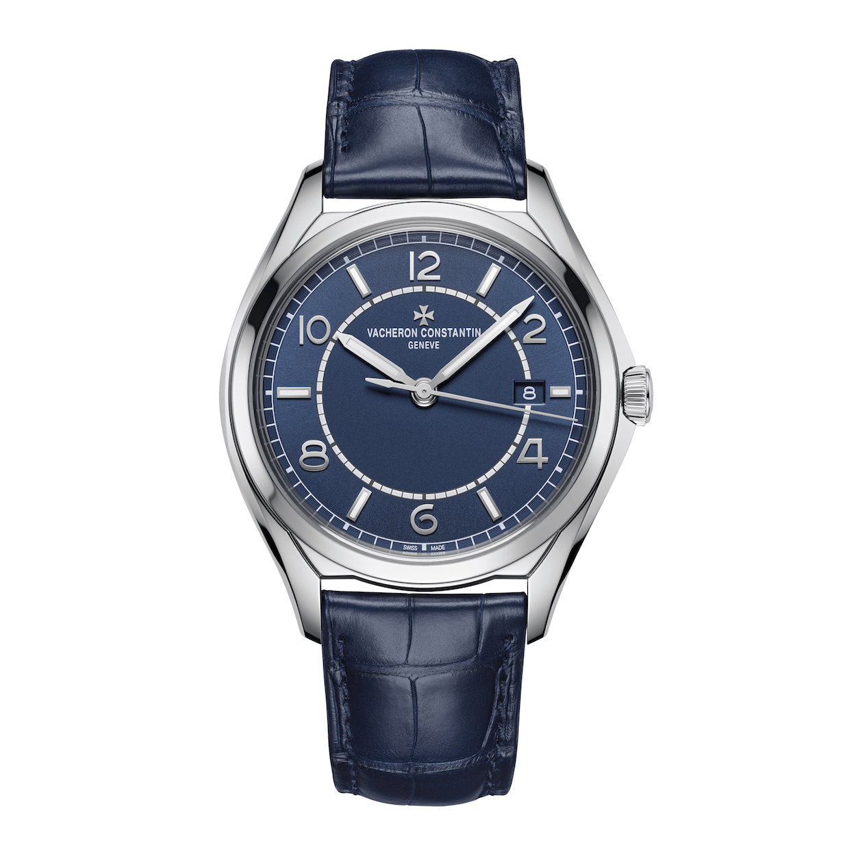4600E:000A-B487 Vacheron Constantin Fifty Six Automatic Date Blue Dial Steel Marshall Pierce & Company Chicago