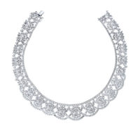 53 Carat 18k white gold diamond estate necklace RR4168 Marshall Pierce Chicago Fine Jewelry