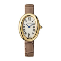 Cartier WGBA0007 Baignoire Yellow Gold Strap Watch Marshall Pierce & Company Chicago