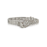 Estate Platinum 155D=13.25ct Mellerio French Bracelet Marshall Pierce & Company Chicago RR2008