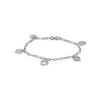 Estate Tiffany & Co Bracelet Vintage Platinum Diamond Hearts Marshall Pierce & Company Chicago RR3521