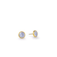 Marco Bicego Jaipur Chalcedony Bezel set stud earrings yellow gold Marshall Pierce & Company Chicago