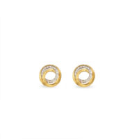 Marco Bicego Jaipur Diamond Link Stud Earrings Yellow Gold ob1007bywq6 Chicago Marshall Pierce & Company